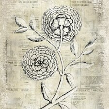 Revealed Artwork Antiqued Bloom II Graphic Art on Canvas