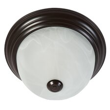 <strong>Yosemite Home Decor</strong> 1 Light Flush Mount Ceiling Light