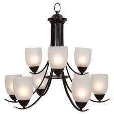 <strong>Yosemite Home Decor</strong> Mirror Lake 9 Light Chandelier