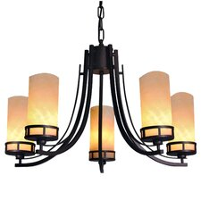 <strong>Yosemite Home Decor</strong> Harlequin 5 Light Chandelier