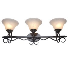 <strong>Yosemite Home Decor</strong> Illiloette Falls 3 Light Bath Vanity Light