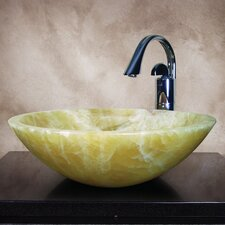 Dallin Hand Carved Round Vessel Bathroom Sink