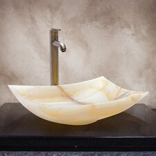 Kaitlyn Hand Carved Vessel Bathroom Sink