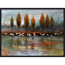 Revealed Artwork Autumn Reflection Painting Print on Canvas