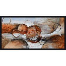 Revealed Artwork Red Planets Canvas Wall Art