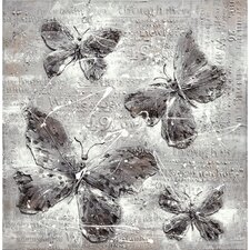 <strong>Yosemite Home Decor</strong> Revealed Artwork Butterfly Impressions Canvas Wall Art