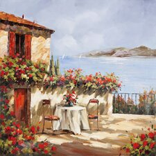 Revealed Artwork Villa Del Mar Original Painting on Canvas