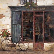 Revealed Artwork Rue De Bicyclette I Original Painting on Canvas