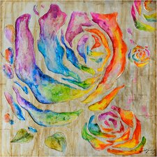 Revealed Artwork Colored Roses I Original Painting on Canvas