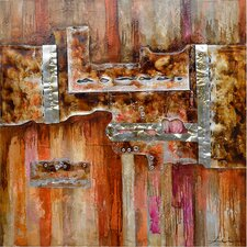 Revealed Artwork Burnished I Original Painting on Canvas