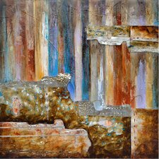 Revealed Artwork Burnished II Original Painting on Canvas