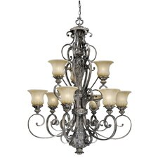 <strong>Vaxcel</strong> Bellagio 9 Light Chandelier