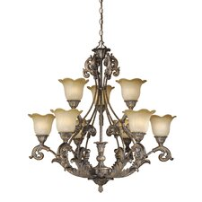 <strong>Vaxcel</strong> Monte Carlo 9 Light Chandelier