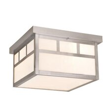 Mission 2 Light Outdoor Flush Mount