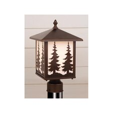 <strong>Vaxcel</strong> Yellowstone Tree 1 Light Outdoor Post Lantern