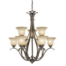 <strong>Vaxcel</strong> Monrovia 9 Light Chandelier