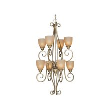 <strong>Vaxcel</strong> Mont Blanc 8 Light Chandelier