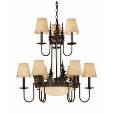 <strong>Vaxcel</strong> Bryce 9 Light Chandelier