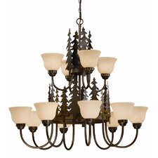 <strong>Vaxcel</strong> Yosemite 12 Light Chandelier