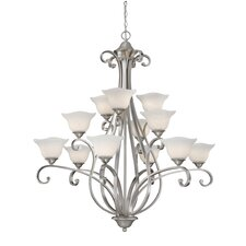 <strong>Vaxcel</strong> Caspian 12 Light Chandelier