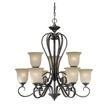 <strong>Vaxcel</strong> Riviera 9 Light Chandelier