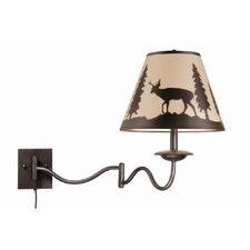 <strong>Vaxcel</strong> Bryce Wildlife Swing Arm Wall Sconce