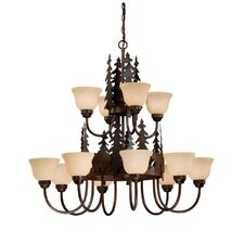 <strong>Vaxcel</strong> Bozeman 12 Light Chandelier