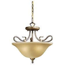 Berkeley 3 Light Semi Flush Mount
