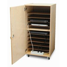 10-Compartment Single Laptop Security Cabinet