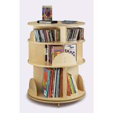 3 Shelf Multimedia Carousel