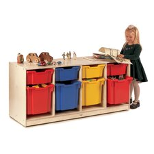 4-Section Cabinet with Gratnell Trays