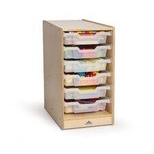 Clear Tray Laminate Storage Cabinet