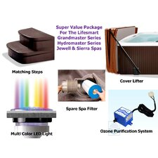 <strong>Lifesmart</strong> Super Value Accessory Package for All Mahogany Surround Rock Solid Spas