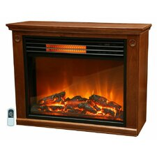 Life Pro Easy Set Infrared Fireplace w/ All Wood Mantle & Remote