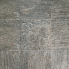 Quadra Natural Stone 8mm Laminate in Charcoal Grey Slate