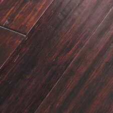 "Portfolio 5"" Engineered Self-Locking Handscraped Bamboo Flooring in Hewn Port"