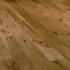 "Mountain Hickory Rustic 5"" Engineered Hickory Flooring in Golden"