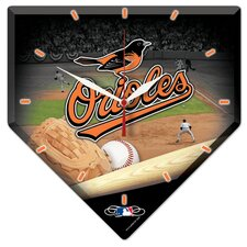 MLB High Def Plaque Wall Clock