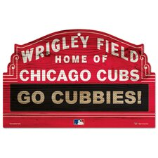 <strong>Wincraft, Inc.</strong> MLB Wood Sign - Chicago Cubs Wrigley