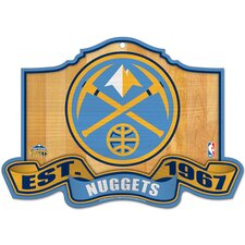 NBA Wood Sign - Denver Nuggets Established 1967