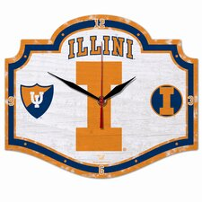 NCAA High Definition Plaque Wall Clock