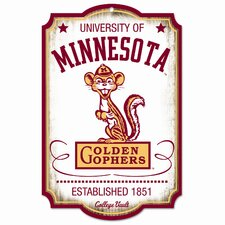 Collegiate NCAA Minnesota University / College Vault Graphic Art Plaque