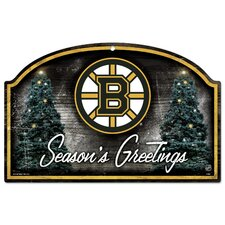 "NHL ""Season's Greetings"" Wood Sign"