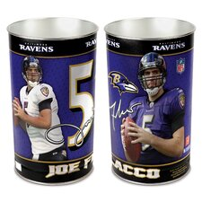 <strong>Wincraft, Inc.</strong> Joe Flacco Wastebasket