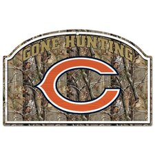 NFL Camoflage Wood Sign