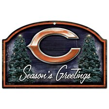 "NFL ""Season's Greetings"" Wood Sign"
