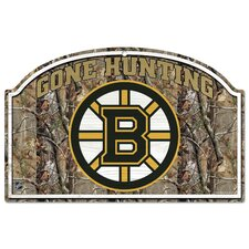 NHL Camoflage Wood Sign