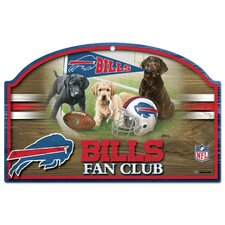 "NFL ""Fan Club"" Wood Sign"