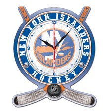 NHL Plaque Wall Clock
