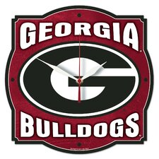 NCAA University of Georgia High Def. Plaque Clock